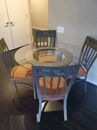 Glass/Stone Table seats 4