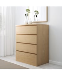 """MALM 4-drawer chest, white stained oak veneer, 31 1/2x39 3/8 """""""