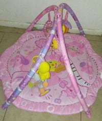 pink and purple floral activity gym