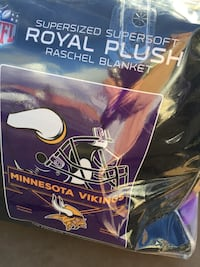 New plush Vikings blanket