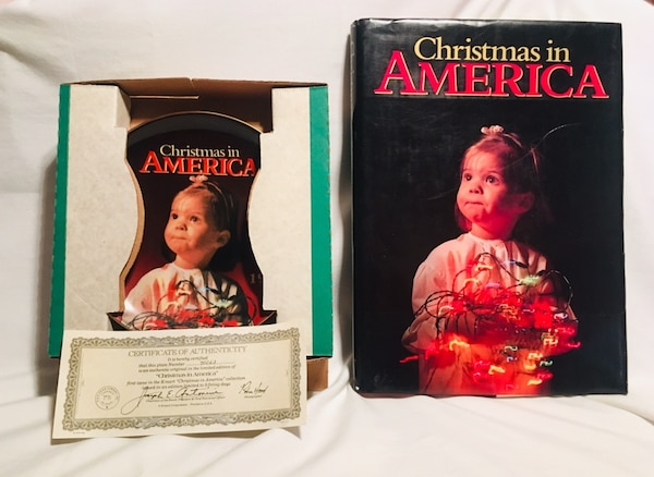 Christmas In America Book.1988 Kmart Christmas In America Book Collectors Plate With Certificate Of Authenticity