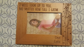 """I Will Look Up To You """"Dad"""" """"Luke"""" Wood Frame NEW"""