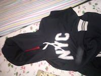 black and white NYC pullover hoodie
