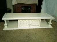 white wooden TV stand with cabinet Alhambra, 91801