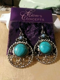 HARD TO FIND, GOLD & TURQUOISE EARRINGS Melbourne, 32934