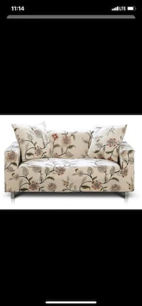 Hipinger Couch cover for 3 seater Blooming flower (NO PILLOW COVERS) Laurel, 20708