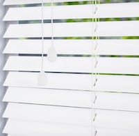 White wood slat blinds Toronto, M4K 2L7