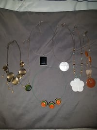7 necklaces - various styles  Orillia, L3V 6H5
