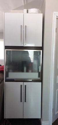 Gray and black french door refrigerator Brossard, J4Y 1C2