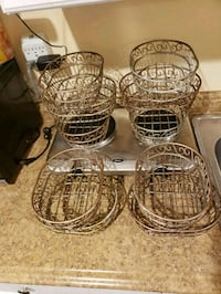 Ten (10) bronze/gold metal bread baskets Miami, 33182