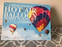 3D Hot Air Balloon Mobile Making 4M Kit Brand new in the Box  Product Details 3D Hot Air Balloon Mobile Making Kit  a 4M Kit by Toysmith  A charming home decor for hot air balloon lovers. Make and paint a hot air balloon mobile which span is as large as 7 Toronto