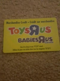 toys r us gift card has $101 selling for $95 Ottawa