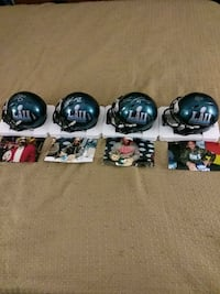 4 Super Bowl mini helmets
