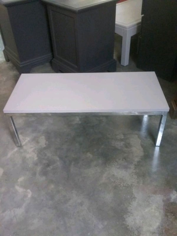 Coffee table painted light gray  12 high  36 wide 16 deep  cc2a6ac7-2415-4347-aed8-620ca7524fb3