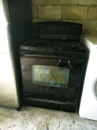 Black glass top electric stove Baltimore