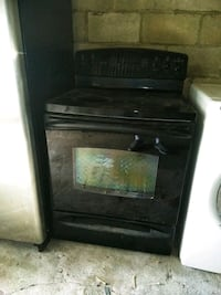 Black glass top electric stove