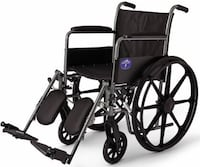 "Medline K1 Basic 18"" Wheelchair, Elevating Legrests, Full Length Arms"