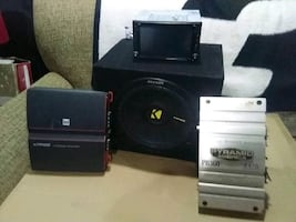 stereo is like new big-screen you can watch TV on it has GPS on it an