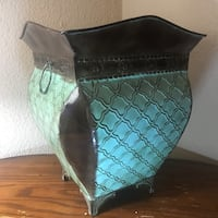 Turquoise/Brown Waste Basket Jenks, 74037