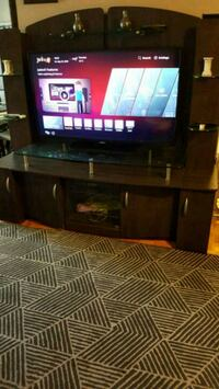 Tv stand with light and shelves and storage  Toronto, M4C 2A8