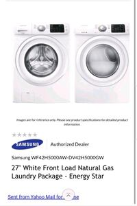 Samsung steam HE washer and dryer with pedestal drawers