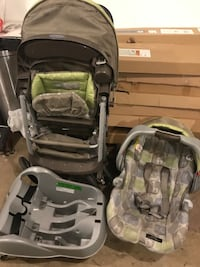 Baby's black-gray-and-green travel system Edmonton, T5W 4R4