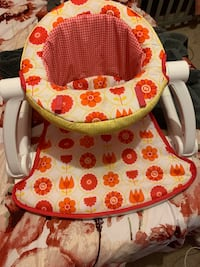 baby's white and red floral high chair Bryans Road, 20616