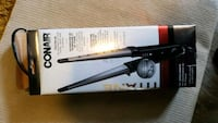 black and gray Conair hair curler box