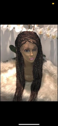 Full lace frontal cornrow wig; Mixed color Pasadena, 21122