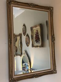 """Antique French gold leaf wood mirror """"41""""X30"""" (SERIOUS INQUIRIES PLEASE """" Gainesville, 20155"""