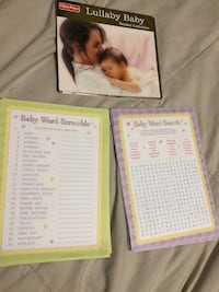Lullaby Baby CD and baby shower game front and back 30 Cantonment, 32533