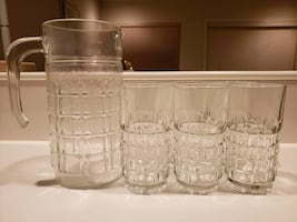 7 PC Glass Set with Pitcher (new)