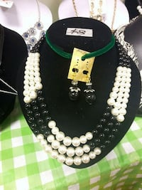 white and black beaded necklace Toronto, M1B 0A7