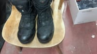 black leather combat boots Calgary, T2A 0N7