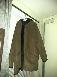 brown button-up long sleeve coat Temple Hills