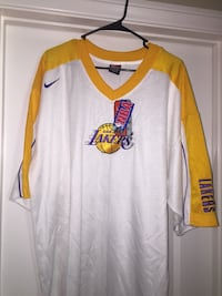 white and yellow v-neck jersey shirt Temecula, 92591
