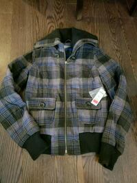 NWT plaid button up winter jacket Ottawa, K4A 0T6