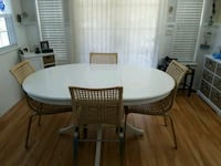 round white wooden table with four chairs dining s Wells, 04090