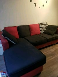 black and red sectional couch Silver Spring, 20902