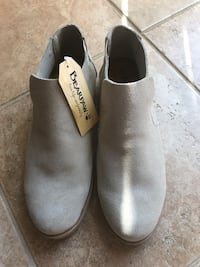 Reduced! Pair of brand new gray bearpaw suede slip-on shoes/ boots
