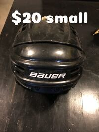 black and white Bauer ice hockey helmet Rocky View No. 44, T1X 1S7