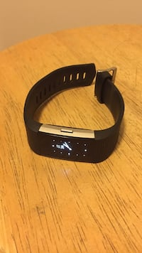 Black fitbit charge 2. Comes with charger and box! Worn a few times but still in perfect condition!