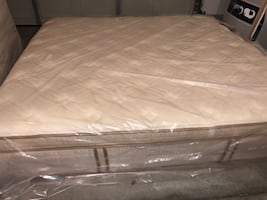 King Serta perfect sleeper pillow top(with boxes)