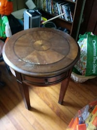 round brown wooden side table Big Pool, 21711
