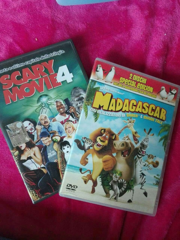 Casse DVD Scary Movie 4 e Madagascar