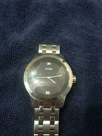 round silver-colored analog watch with link bracelet Dallas, 75211