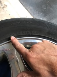Set of 4 tires, good treads and in good condition 6 mi