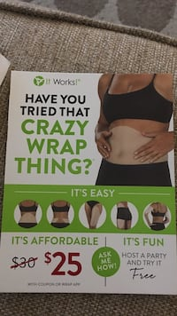 It Works! crazy warp thing? gift card Scranton, 18509