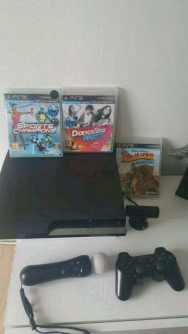 svart Sony PlayStation 3 Slim-bunt
