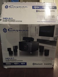 Cayman Bluetooth home theater system box 26 km